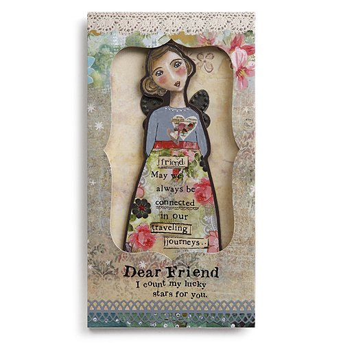Kelly Rae Robert Angel Ornament Card - FRIEND