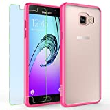 Samsung Galaxy A5 (2016) / A510F Case, INNOVAA Luminous Crystal Clear Series Bumper Case (Not Compatible with Samsung Galaxy A5 (2015)) W/ Free Screen Protector & Stylus Pen - Hot Pink