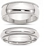 Sterling Silver Couple Ring Set - 8.5