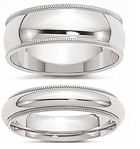 Sterling Silver Couple Ring Set - 6.5 by viStar