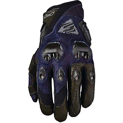 Five Stunt Evo Adult Street Motorcycle Gloves - Denim/Large