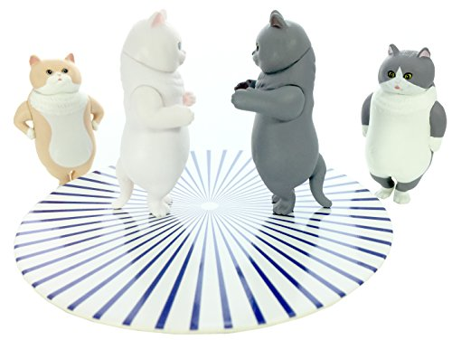 Kitan Club Seiretsu Marching Cat Plastic Toy - Blind Box Includes 1 of 4 Collectable Figurines - Fun, Versatile Decoration - Authentic Japanese Design - Made from Durable Plastic (Marching Case)