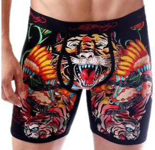 1019c7926c5 Ed Hardy Tiger W Swords Boxers Without Fly Men s Boxers Black X-Large