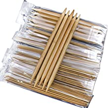 WinnerEco 75pcs 7.9inch Double Pointed Carbonized Bamboo Knitting Needles