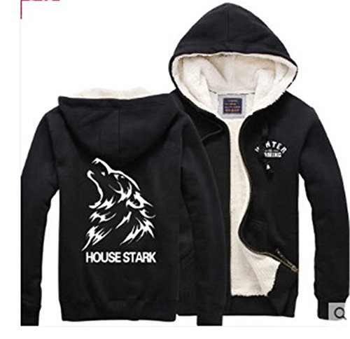 Yaha see there A Song of Ice and Fire hoodie fleece thick A wolf house stark winter is comming costume hoodie coat Gold S