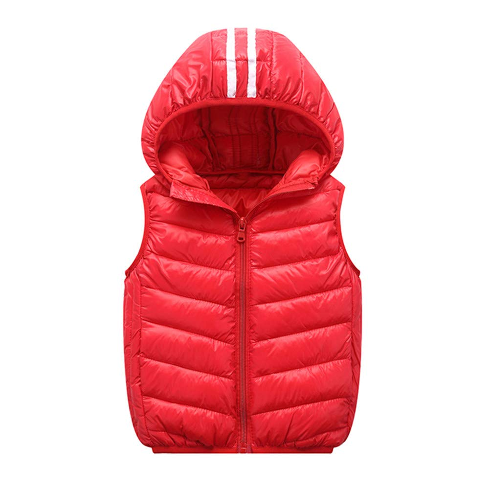 Pollyhb New Kids Winter Thick Warm Coat Vest, Children Girls Boys Hoodie Outerwear