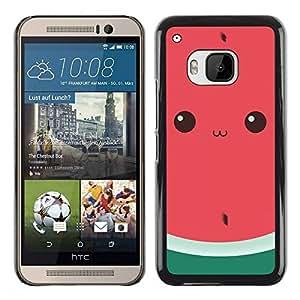 TopCaseStore / la caja del caucho duro de la cubierta de protección de la piel - Cute Drawing Eyes - HTC One M9