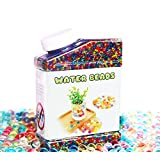 Water Beads, Elongdi Colorful Jelly Water Beads Grow Many Times, Rainbow Mix Over 45,000 Beads (Rainbow)