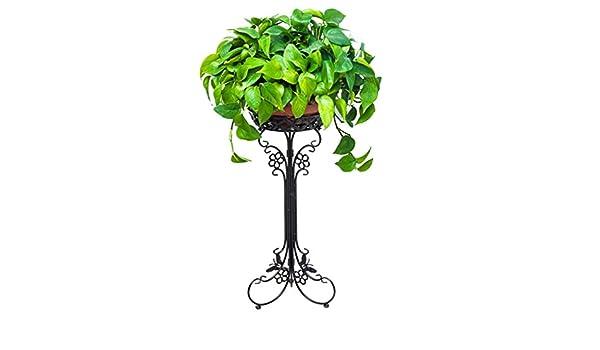 AIDELAI Aiilai - Estante de flores de hierro con marco de balcón ...