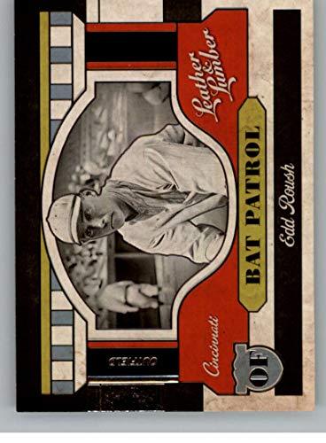 (2019 Leather and Lumber RETAIL Bat Patrol #6 Edd Roush Cincinnati Reds Official MLBPA Licensed Panini Baseball Card)