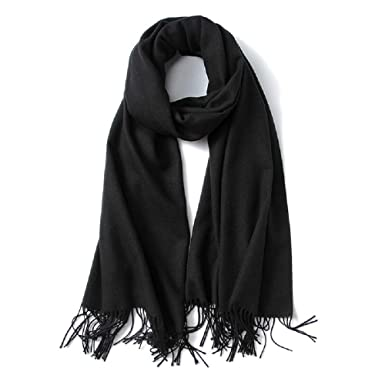 7bf6f6d247e9 Mens Scarf Fashion Winter Cashmere Feel Long Scarves for Men (Black)   Amazon.co.uk  Clothing