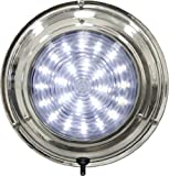 SeaSense Dome LED Light White, 5-1/2-Inch, Stainless Steel