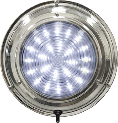 - Seasense Dome Light (7-Inch,White Led Stainless Steel)