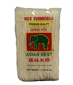 Asian Best Premium Rice Vermicelli Banh Hoi, 16oz (3 Packs)