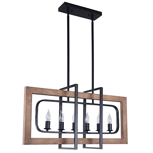Amazon.com: Lingkai - Lámpara de cocina industrial, 6 luces ...