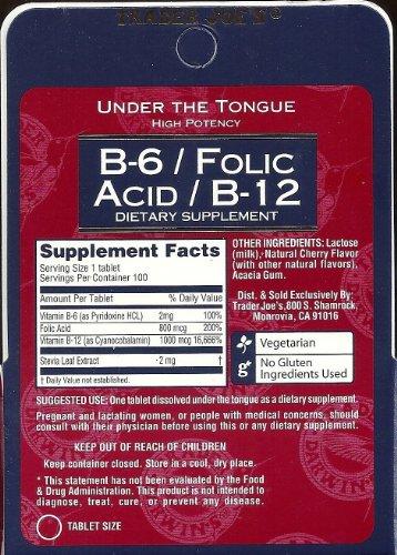 Trader Joe's B-6 / Folic Acid / B-12 Dietary Supplement (200 Tablets - 2 pack)
