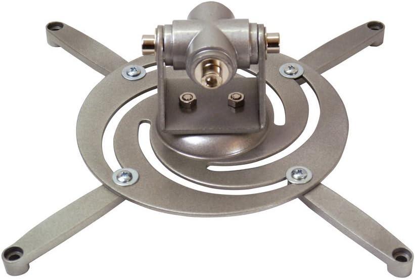 conecto/® Universal Projektor//Beamer Halterung Deckenhalterung wei/ß neigbar, schwenkbar, Kabelmanagement