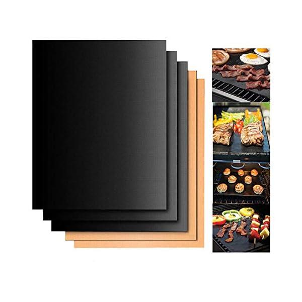 laoga Utensili per Barbecue riutilizzabili PTFE Attrezzo da Cucina Antiaderente Tappetino per Barbecue Fodere per… 2 spesavip