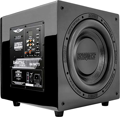 Earthquake Sound MiniMe DSP P-10 10-inch Powered Subwoofer with DSP Control and SLAPS Passive Radiator Technology (10 Inch Earthquake Subwoofer)