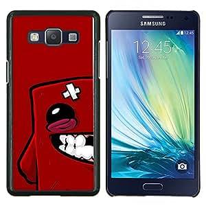 Qstar Arte & diseño plástico duro Fundas Cover Cubre Hard Case Cover para Samsung Galaxy A5 A5000 (Cara Roja Blob)