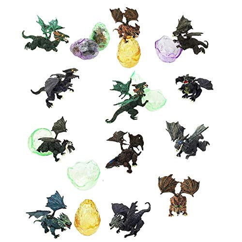 Totem World 12 Toy Filled Ancient Dragon Eggs and Figurines Inside - Kids Love Their Bright Colors and Adorable Designs - Perfect for Egg Hunts, Goodie Bags, Homework Rewards, and Party Favors]()
