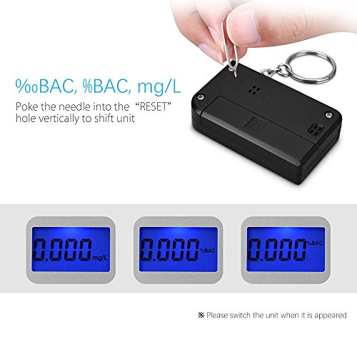 Homasy Breathalyzer, Mini Keychain Digital Breathalyzer, Portable Keyring Breath Alcohol Tester, by Homasy (Image #3)