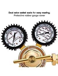 BETOOLL indicadores de regulador de oxígeno y gas para soldaduras para kits de corte con soplete Victor CGA 540.