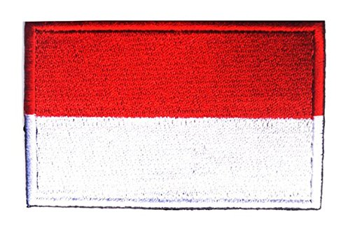 ShowPlus Indonesia ID Flag Military Embroidered Tactical Patch Morale Shoulder ()