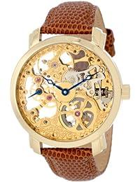 Akribos XXIV Men's AK406YG Bravura Davinci Mechanical Gold-Tone Watch