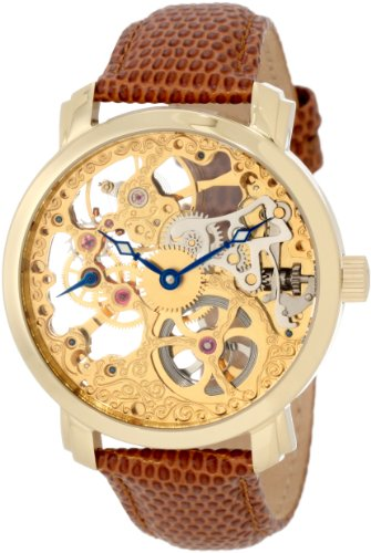 amazon com akribos xxiv men s ak406yg bravura davinci amazon com akribos xxiv men s ak406yg bravura davinci mechanical gold tone stainless steel and leather watch watches