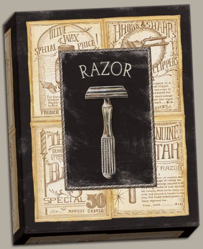 Popular Vintage Old-Fashioned Razor Sign; One 8x10 Hand-S...