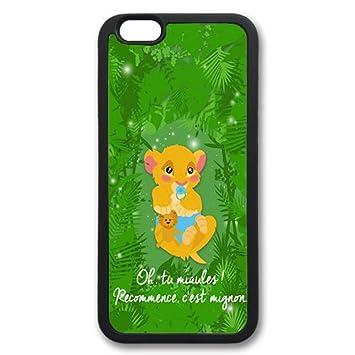 coque iphone 7 silicone le roi lion