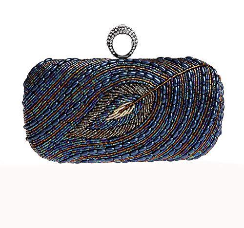 Paillettes borsa Ballo 8x5x2inch Partito da Cheongsam della A Busta Rilievo mano Blu casa borsa sera Ornamento dorato Donne Per 20x13x5cm dYqZUpd