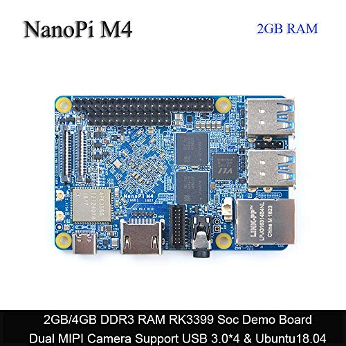 FriendlyARM NanoPi M4 2GB DDR3 Rockchip RK3399 SoC 2.4G & 5G Dual-Band WiFi,Support Android and Ubuntu, AI and deep Learning,Ship with OV13850 Camera Module - $109.00