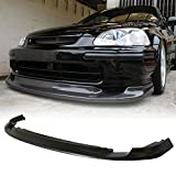 Front Bumper Lip Fits 1996-1998 Honda Civic | JDM Style Black PU Front Lip Finisher Under Chin Spoiler Add On by IKON MOTORSPORTS | 1997