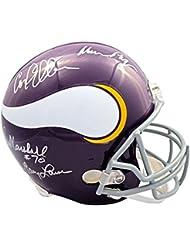 Purple People Eaters Autographed Minnesota Vikings Full-Size Helmet - JSA COA