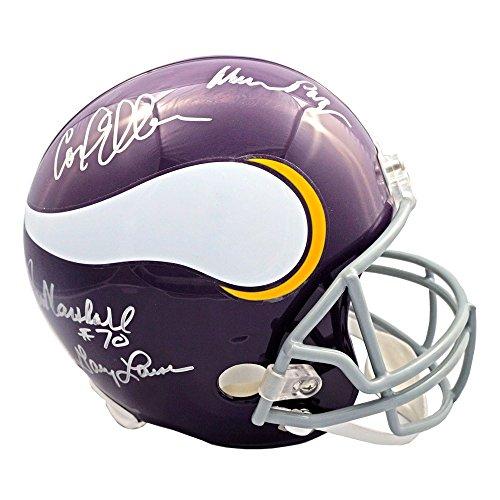 (Purple People Eaters Autographed Minnesota Vikings Full-Size Helmet - JSA)