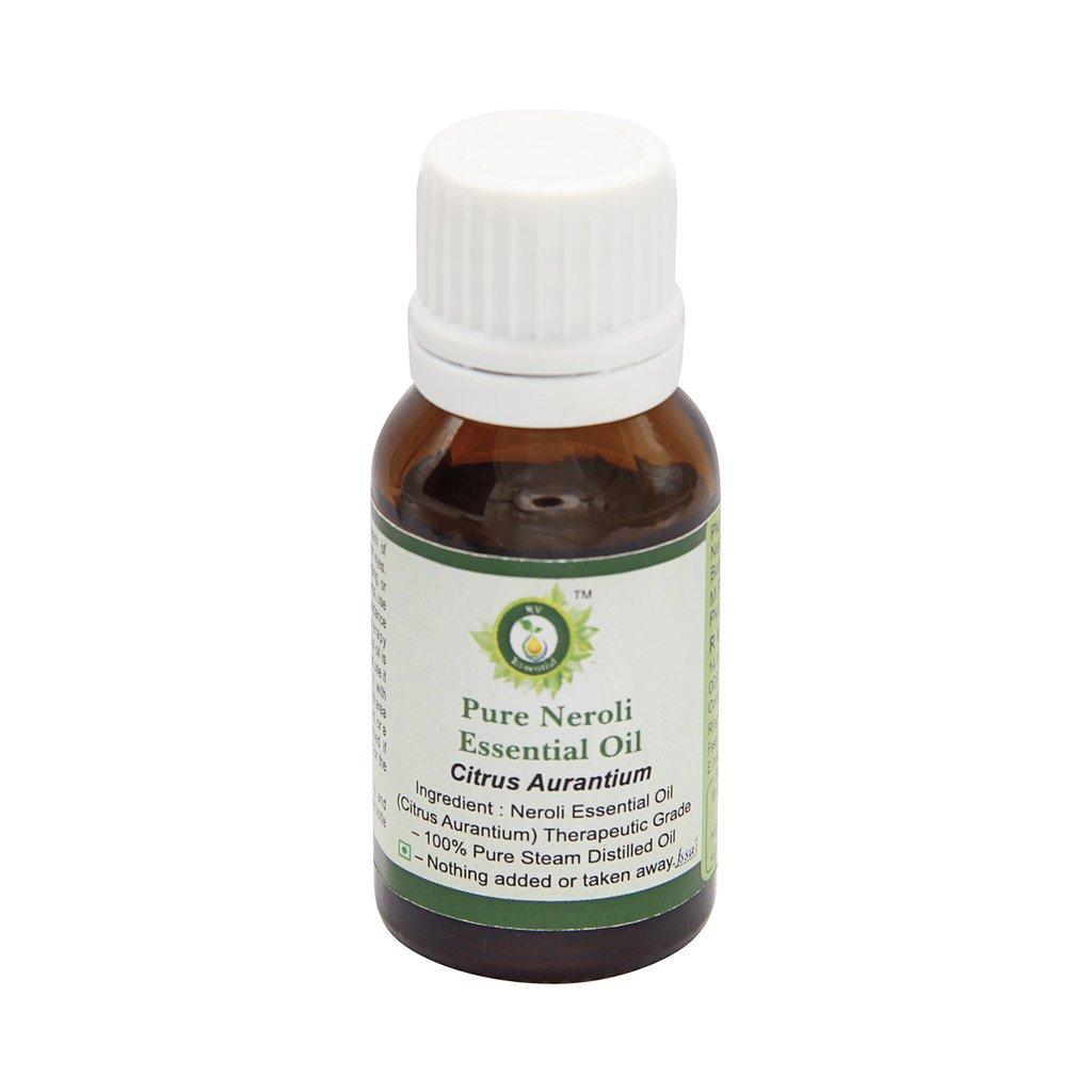 R V Essential Pure Neroli Essential Oil 15ml (0.507oz)- Citrus Aurantium (100% Pure and Natural Therapeutic Grade)