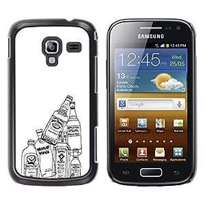 MOBMART Carcasa Funda Case Cover Armor Shell PARA Samsung Galaxy Ace 2 - Empty Bottles Of Alcohol