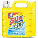 Sun Ultra Liquid Laundry Detergent Plus Oxi, Original Fresh, 250 Ounces, 140 Loads