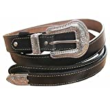 Danai Presents. VERY 6 PCS X NICE BELT @ BUCKLE GENUINE LEATHER SILVER TONE