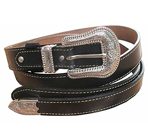 Danai Presents. VERY 6 PCS X NICE BELT @ BUCKLE GENUINE LEATHER SILVER TONE by Thai