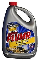 Liquid-Plumr 00228 Professional Strength Drain Opener, 80 fl oz Bottle (Pack of 3)