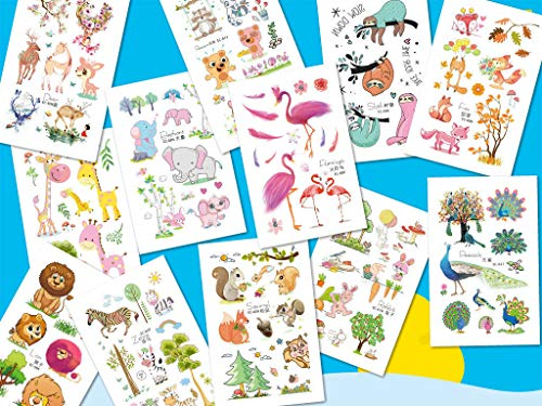 10 X Animals Tattoos Temporary Party Decorations Kids Cartoon Arms Hands Shoulders Sticker US