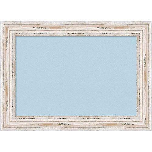 Framed Wash (Amanti Art Framed Blue Cork Board Alexandria White Wash: Outer Size 29 x 21 Med Whitewash, Medium)
