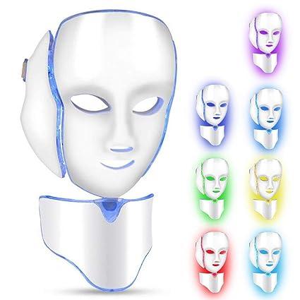Máscara LED cuello de la cara anti arrugas eliminación de acné máquina de rejuvenecimiento de la