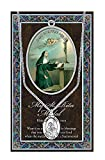 St Rita Pewter Medal on 18 Inch Chain with Embossed