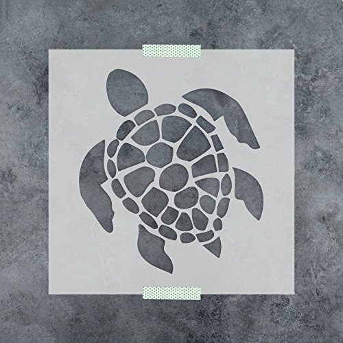 Turtle Stencil Template - Reusable Stencil with Multiple Sizes (Turtle Stencil)