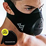 Training Mask 3.0 Workout Elevation Performance Fitness Mask for Running and Breathing Mask, Cardio Mask, Official Training Mask Used by Pros (All Black + Case, Small)