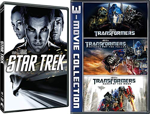 Starbots 4 Movie Pack Transformers 1/2/3 Revenge of the Fallen / Dark Moon & Star Trek Movie Bundle J J Abrams Michael Bay Duo Special sci-fi Action